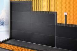 Die elektrische Boden- und Wandheizung DITRA-HEAT-E sorgt für behagliche Wärme.